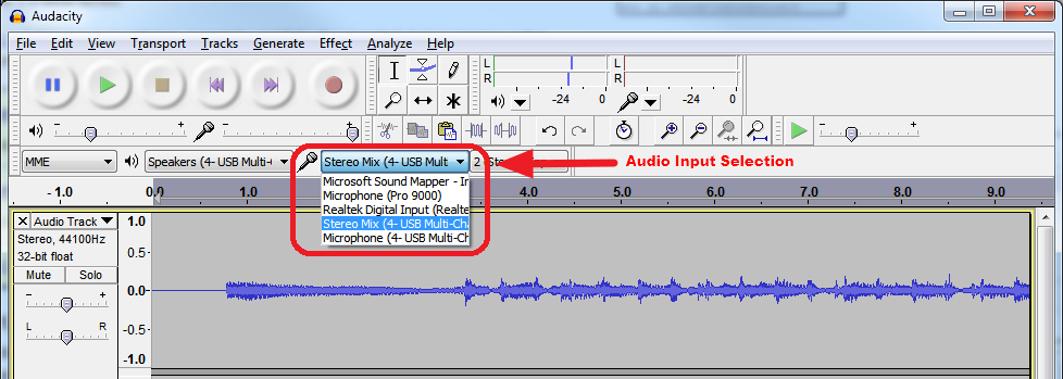 Denonods1 Capturing Audio Device Output in Audacity