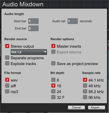 mpcsoftware exportingaudio3