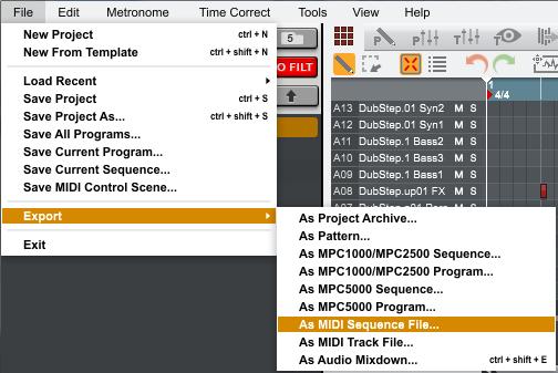 mpc software exportingaudio13