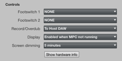 MPC Touch Menu Plug