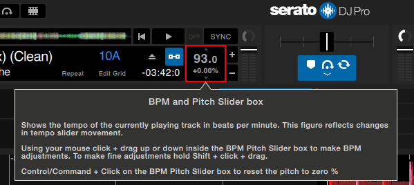 Serato DJ Pro BPM