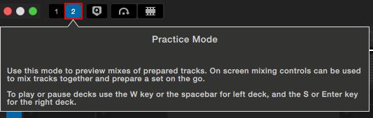 Serato DJ Pro Practice mode 2