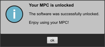 Your MPC is unlocked