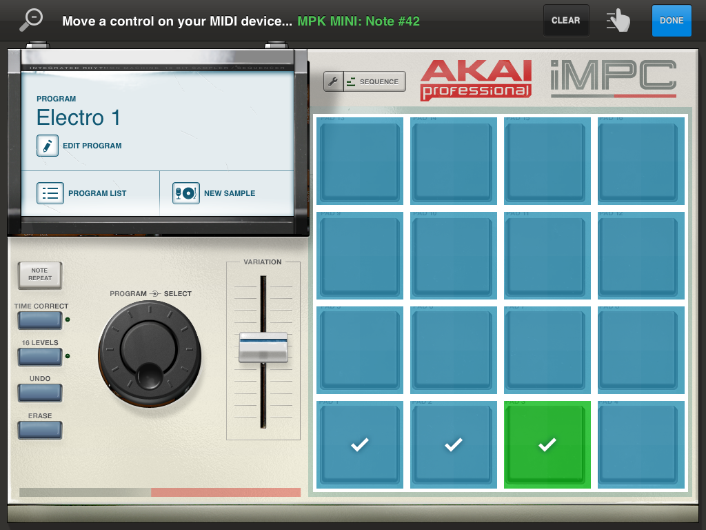 iMPC App 101: Triggering the iMPC pads with a Class Compliant MIDI