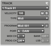 9 MPC TRACK Settings