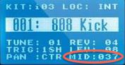 akai mpx8 triggering externally lcdscreen