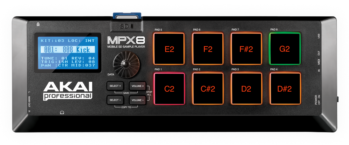 akai mpx8 triggering externally noteassignments