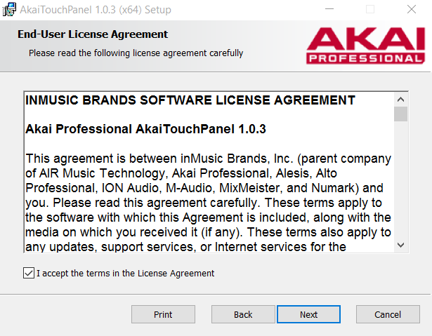 License Agreement Touch