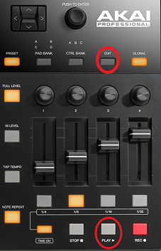 akai mpd226 editselection
