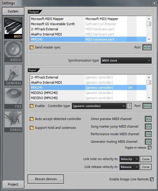 akai mpk2 flstudio hardware sync 3