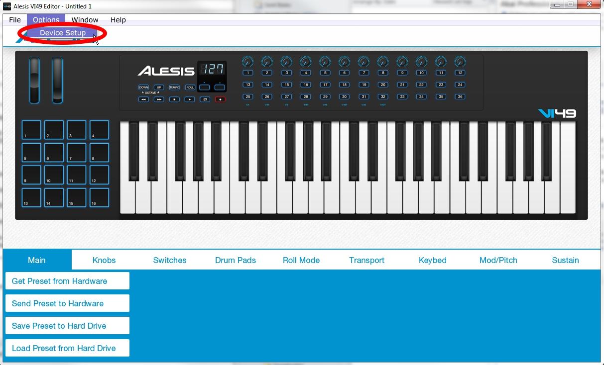 Alesis VI VelocityCurve 1