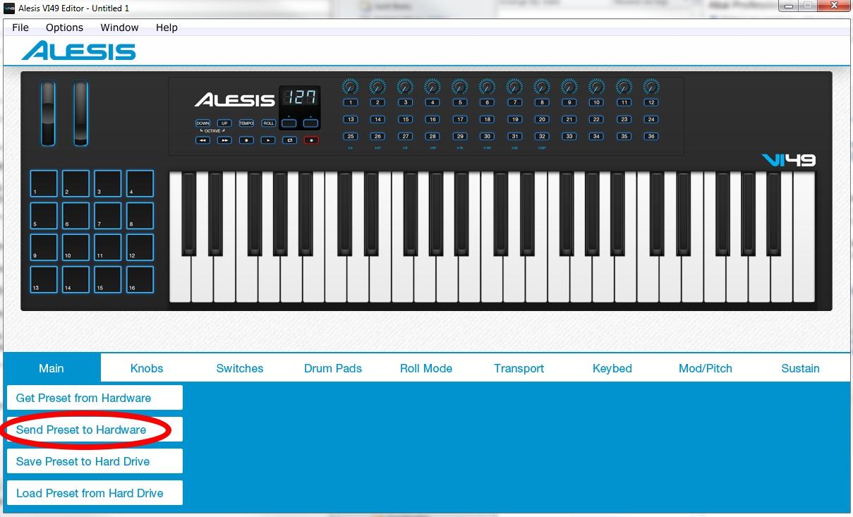Alesis VI VelocityCurve 4