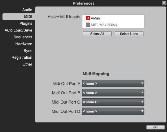 vmini MPC setup