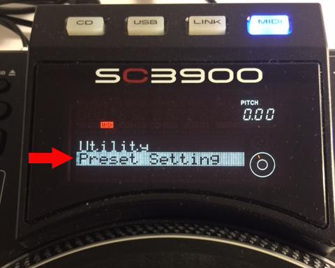 SC3900 hybridDVS presetsetting