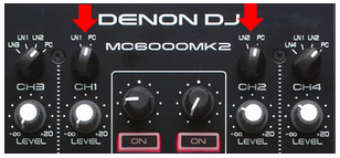 denon mc600mkII input sources setup