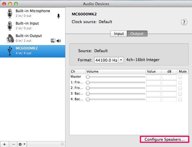 denondj mc6000mk2 vdj7 configurespeakersselect