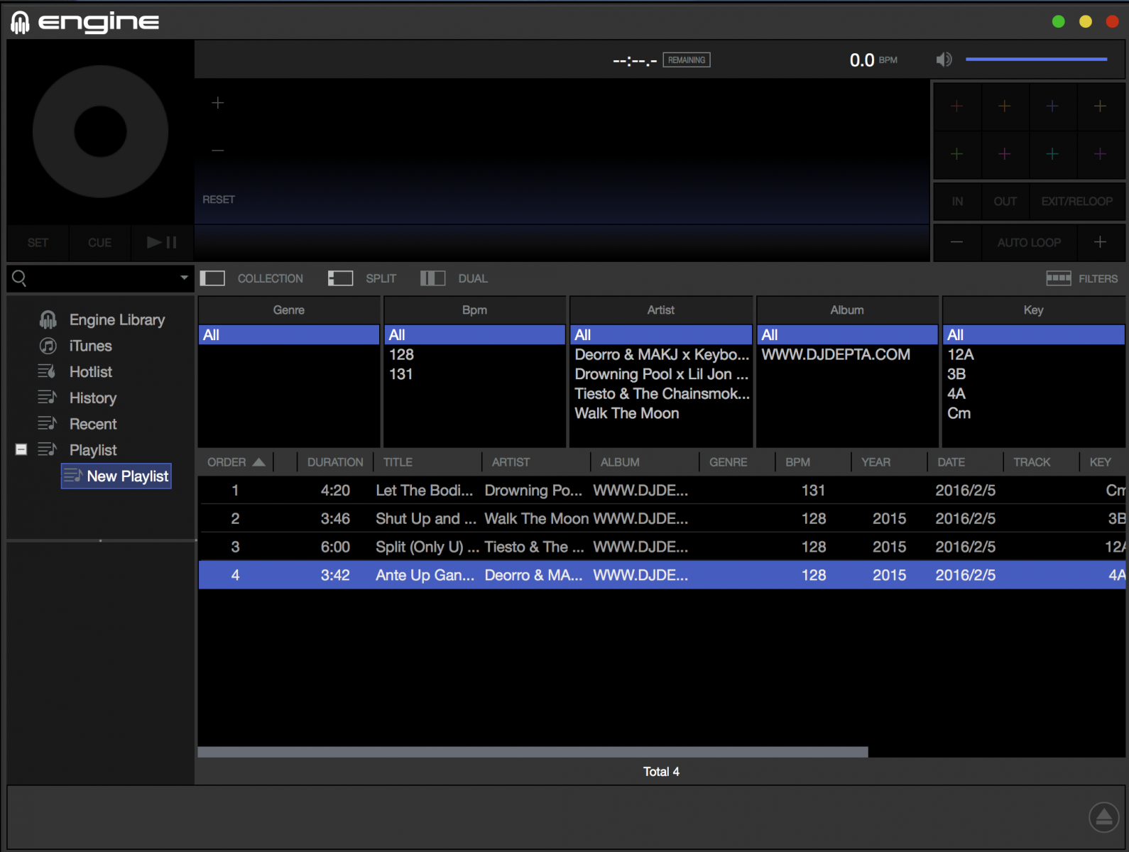 Denon DJ MCX8000 - How to Import and Analyze a Serato Crate