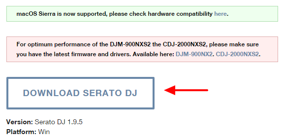 download serato dj button