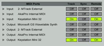 m-audio keystation mini32 ableton 3