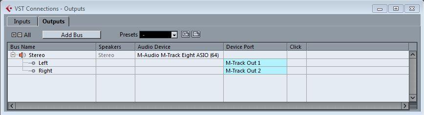 m audio mtrackeight cubasesetup 25