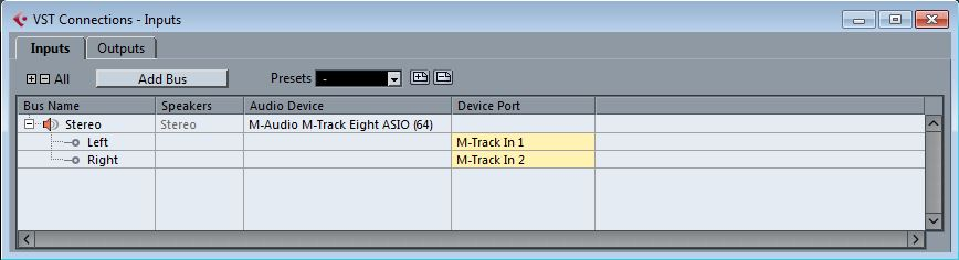 m audio mtrackeight cubasesetup 26