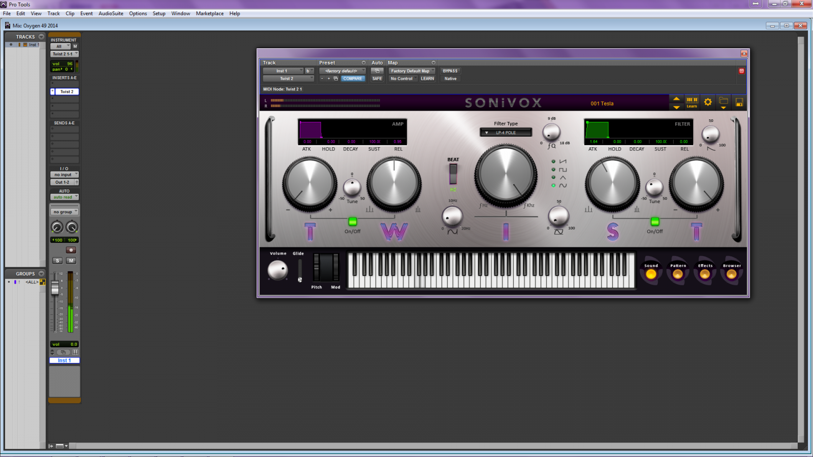 m audio oxygen series setup pro tools 6