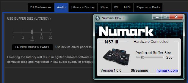 Numark NS7III NS7iiiDriverPanel