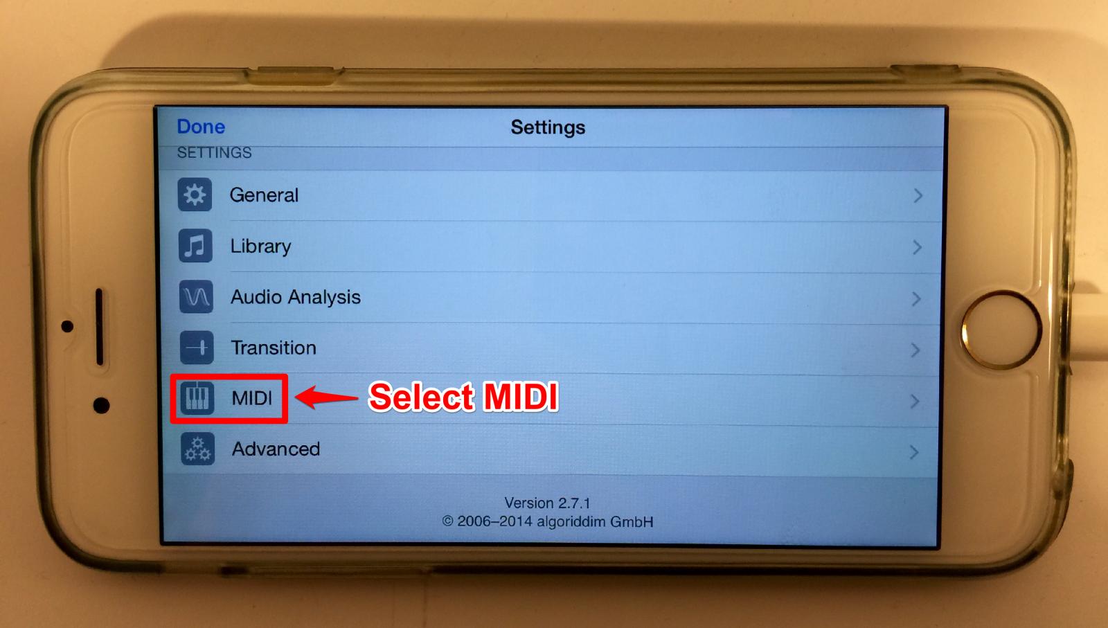 numark mixdeckquad iOS8 selectmidi