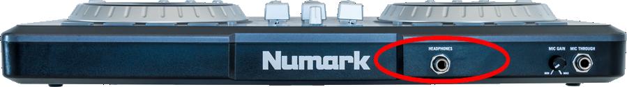 numark mixtrack pro front hdph
