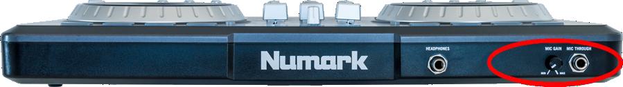 numark mixtrack pro front mic