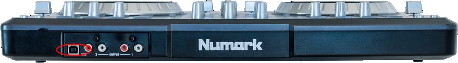 numark mixtrack pro rear usb