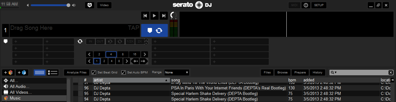 serato waveform freeze