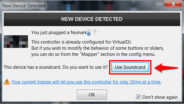 numark virtualdj8 hardwaredetected