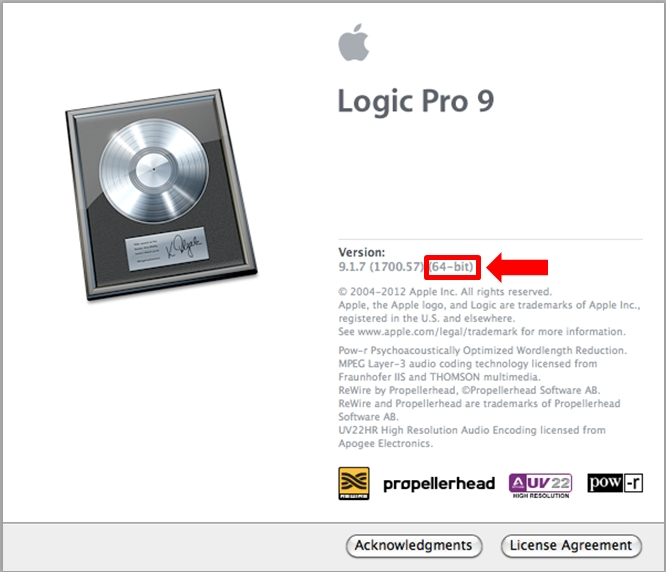 Logic - which version 64bit