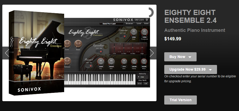 sonivox eighty-eight ensemble m-audio